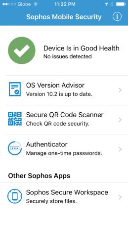 Sophos on iOS